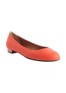 Fendi red leather ballet flats