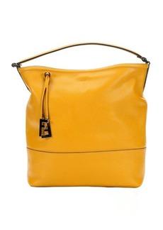 Fendi sunflowers leather top handle large bucket bag