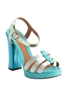 Fendi turquoise and light blue strappy 'Giada' sandals