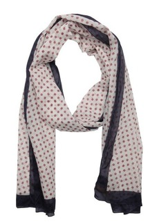 Fendi white and red cotton 'FF' print scarf