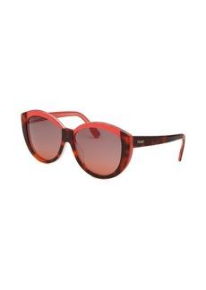 Fendi Women's Cat Eye Havana Sunglasses