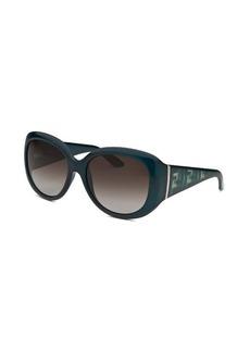 Fendi Women's Oversized Dark Teal Sunglasses