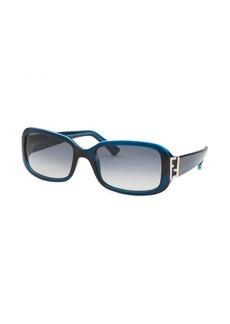 Fendi Women's Rectangle Blue Sunglasses