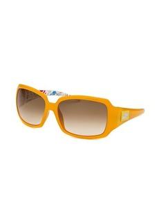 Fendi Women's Rectangle Goldenrod Yellow Sunglasses