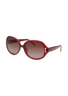 Fendi Women's Round Translucent Bordeaux Sunglasses