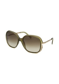 Fendi Women's Square Olive Green Sunglasses