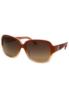 Fendi Women's Square Orange Gradient Sunglasses