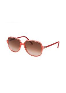 Fendi Women's Square Translucent Coral Sunglasses
