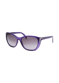 Fendi Women's Square Translucent Purple Sunglasses