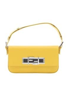 Fendi yellow calfskin '3Baguette' convertible shoulder bag