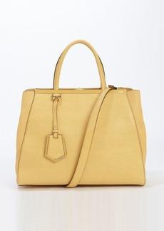 Fendi yellow leather '2Jours' medium convertible tote