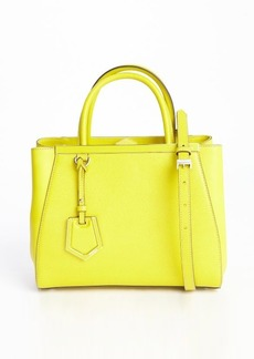 Fendi yellow leather '2Jours' petite convertible top handle bag