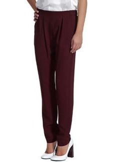 Pleated Cady Jogging Pants, Sable   Pleated Cady Jogging Pants, Sable