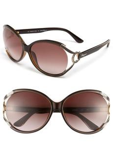 Salvatore Ferragamo 59mm Oversized Sunglasses