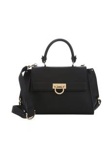 Salvatore Ferragamo black calfskin medium 'Sofia' convertible satchel