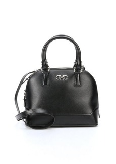 Salvatore Ferragamo black leather 'Darina' structured small tote