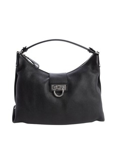 Salvatore Ferragamo black leather 'Fanisa' shoulder bag