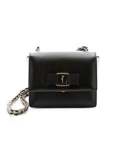 Salvatore Ferragamo black leather 'Ginny' mini shoulder bag