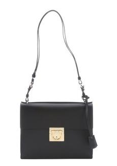 Salvatore Ferragamo black leather 'Marisol' shoulder bag