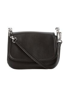 Salvatore Ferragamo black leather small shoulder bag