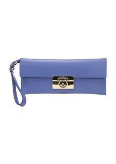 Salvatore Ferragamo blue china calfskin 'Afef' clutch bag
