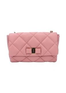 Salvatore Ferragamo blush quilted leather 'Gelly' shoulder bag
