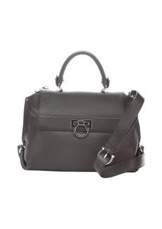 Salvatore Ferragamo brown pebbled leather 'Sofia' convertible handbag