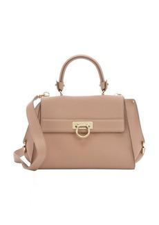 Salvatore Ferragamo camel leather medium 'Sofia' convertible satchel