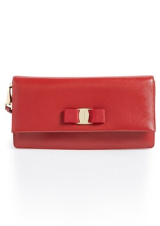 Salvatore Ferragamo 'Camy' Saffiano Leather Flap Clutch