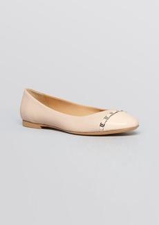 Salvatore Ferragamo Cap Toe Ballet Flats - Pim Chain