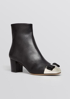 Salvatore Ferragamo Cap Toe Booties - Nury