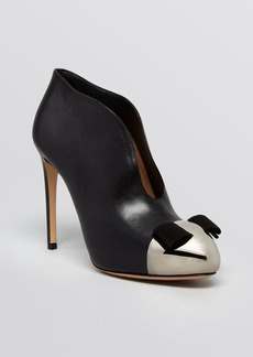 Salvatore Ferragamo Cap Toe Platform Booties - Noyal High Heel