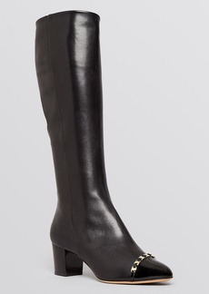 Salvatore Ferragamo Cap Toe Riding Boots - Nanni High Heel