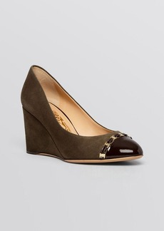 Salvatore Ferragamo Cap Toe Wedge Pumps - Nana