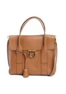 Salvatore Ferragamo caramel leather 'Sookie' convertible top handle bag