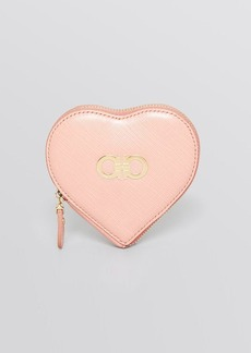 Salvatore Ferragamo Coin Purse - Gancini Icona Vitello Tissu Soft Heart