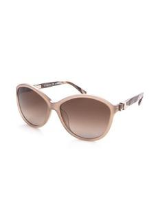 Salvatore Ferragamo crystal pink acrylic cat eye sunglasses