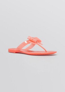 Salvatore Ferragamo Flat Jelly Thong Sandals - Pandy