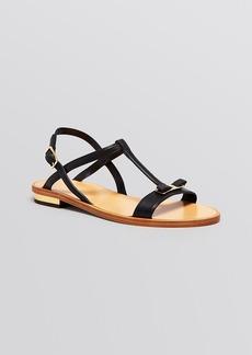 Salvatore Ferragamo Flat Sandals - Marino Logo Bow