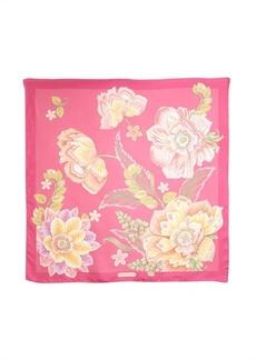 Salvatore Ferragamo fuchsia tropical floral print silk scarf