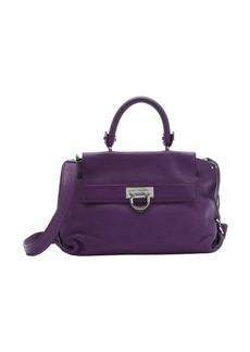 Salvatore Ferragamo grape leather 'Sofia' convertible top handle bag