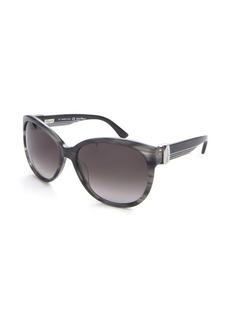 Salvatore Ferragamo grey acrylic cat eye sunglasses