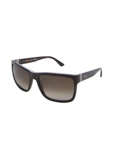 Salvatore Ferragamo havanna brown acrylic rectangle sunglasses