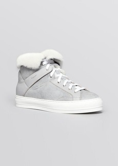Salvatore Ferragamo High Top Sneakers - Nisia Fur