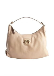 Salvatore Ferragamo khaki calfskin 'Fanisa' shoulder bag