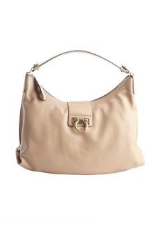 Salvatore Ferragamo khaki calfskin 'Fanisa' shoulder bag