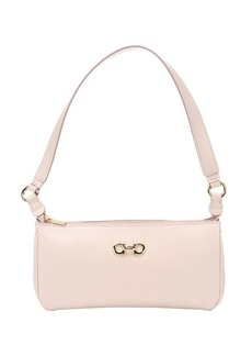 Salvatore Ferragamo light pink calfskin 'Lisetta' small shoulder bag