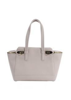 Salvatore Ferragamo milk leather 'Verve' zip detail tote bag