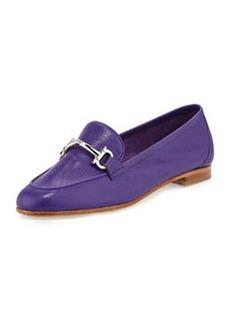 Salvatore Ferragamo My Informal Leather Gancini Loafer, Zaffiro Bright Blue