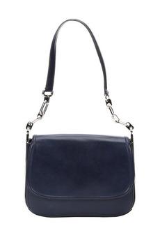 Salvatore Ferragamo navy leather small shoulder bag